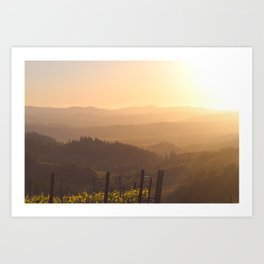 Sunset in Wine Country Art Print