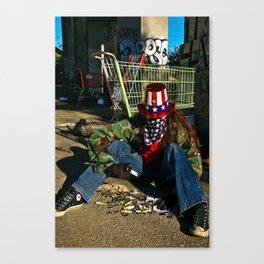 Broken Uncle Sam Canvas Print