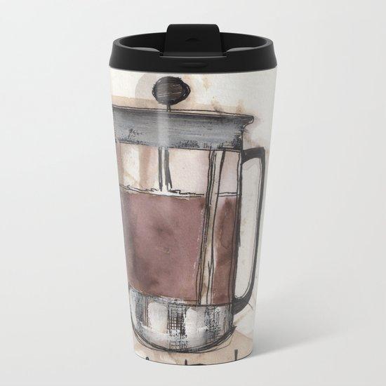 Coffee In Bed Metal Travel Mug