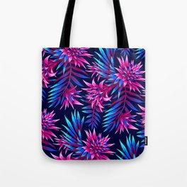 Aechmea Fasciata - Dark Blue/Pink Tote Bag