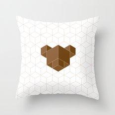 cubear Throw Pillow