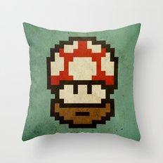 Bearded mushroom Throw Pillow