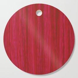 Strawberry Colored Vertical Stripes Cutting Board