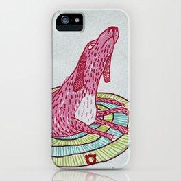 006_pink dog iPhone Case