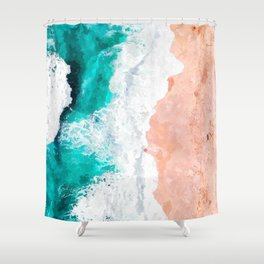 Beach Illustration Shower Curtain