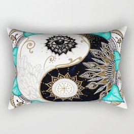 Yin and Yang Mandala Rectangular Pillow