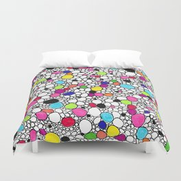 Circles and Other Shapes and colors Duvet Cover
