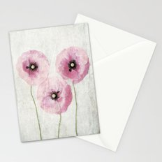 Pink Vintage Poppies Stationery Cards