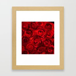 Red Apple Roses Abstract Framed Art Print