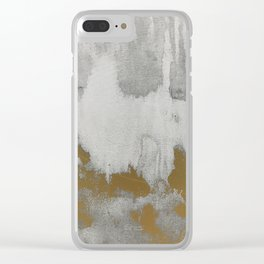 Golden shadows Clear iPhone Case