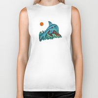 dolphin Biker Tanks featuring Dolphin by gretzky