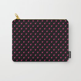 BLACK & HOT PINK BOMB DIGGITYS ALL OVER SMALL Carry-All Pouch