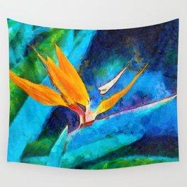 Bird Of Paradise Plant art Wall Tapestry