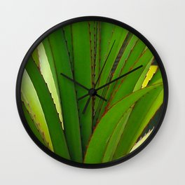 Young Screw Pine Wall Clock