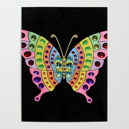 Jeweled Butterfly Poster
