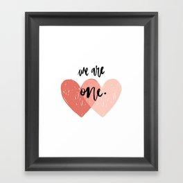 Soul mates hearts Framed Art Print