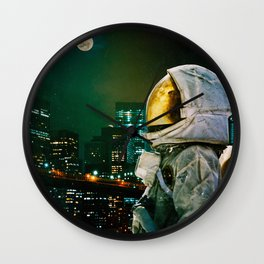 Between The Moon And The City Wall Clock