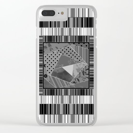 Abstract pattern . Patchwork striped . Clear iPhone Case