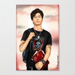 Tattooed Youngjae (GOT7) - digital art Canvas Print