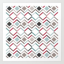 Modern Angles Style Q Art Print