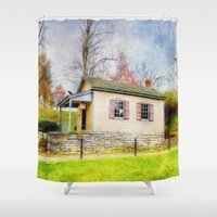 whisky Shower Curtains featuring The Quart House by ThePhotoGuyDarren