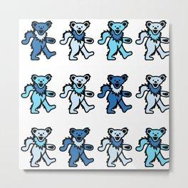 Ocean Blue Bears Metal Print