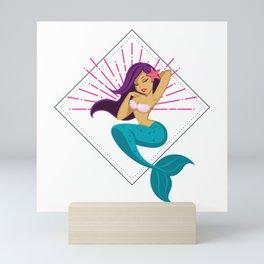 Mermaid Design Mini Art Print