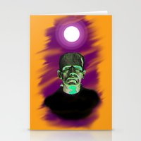 frankenstein Stationery Cards featuring Frankenstein  by JT Digital Art