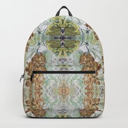 Orchid Floral Mirrored Pattern. Backpack