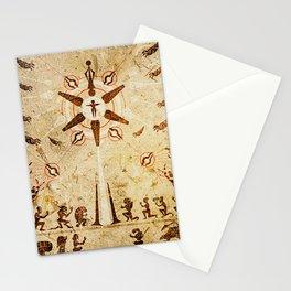 The Reaper War: Destroy Ending - Krogan Mural Art Style Stationery Cards