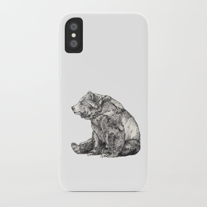 bear iphone case graphite iphone by sandradieckmann society6 10236
