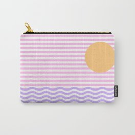 Coastline (Sunset Pink) Carry-All Pouch