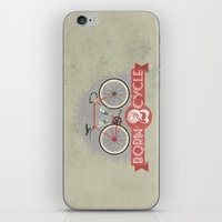 brompton iPhone & iPod Skins featuring Born To Cycle by Wyatt Design