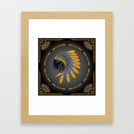 Honor and Strength Yellow Framed Art Print