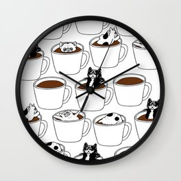 More Coffee French Bulldog Wall Clock