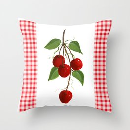 Country Cherries Throw Pillow