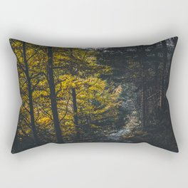 Landscape photo - forest in autumn Rectangular Pillow