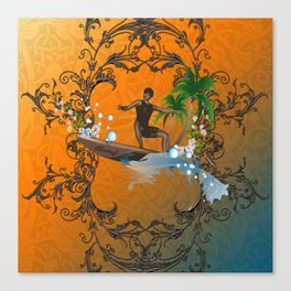 Surfboarder Canvas Print