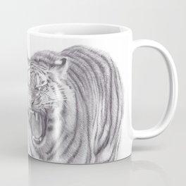 Bengal Tiger Roaring - Big Wild Cat Animal Artwork Drawing Coffee Mug