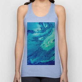 Blue and Green Smooth Texture Unisex Tank Top