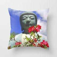 buddah Throw Pillows featuring Buddah Serenity by Magmata