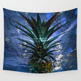 Silver Leaf Tropical Pineapple #buyart Wall Tapestry