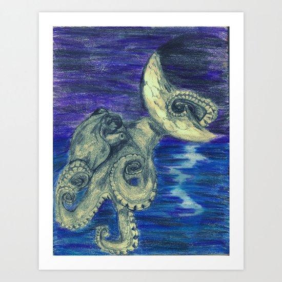 Noctopus Art Print