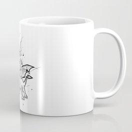 Spyro Handmade Drawing, Made in pencil and ink, Tattoo Sketch, Videogames Art Coffee Mug