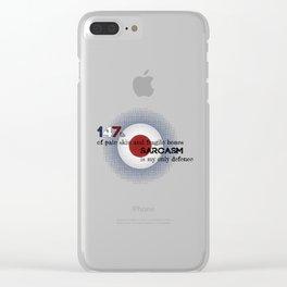 fragile human Clear iPhone Case
