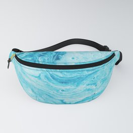 Aqua Abstract Watercolor Fanny Pack