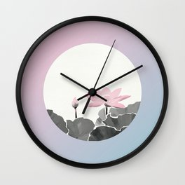 First Lotus Blossoms Wall Clock