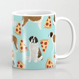 Saint Bernard pizza slices funny cute dog gifts for dog lover unique dog breeds Coffee Mug