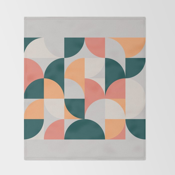 Mid Century Geometric 17 Throw Blanket