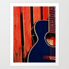 6 Strings and a Barn Art Print